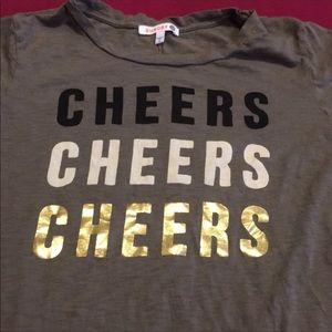 Sundry Tops - Sundry CHEERS tee shirt size 3